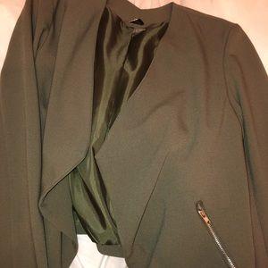 H&M olive green blazer